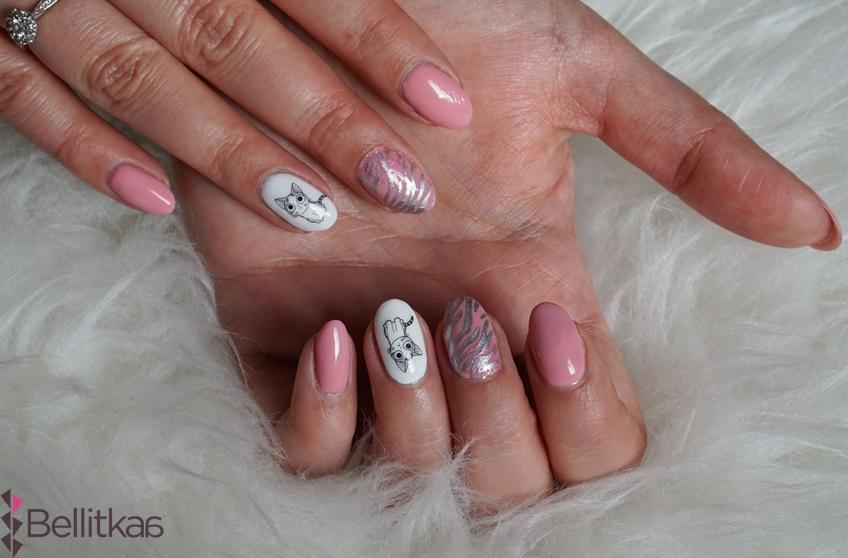Manicure z kotem
