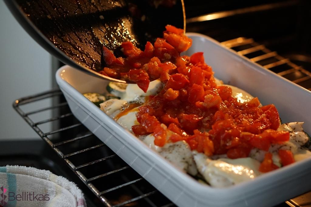 ryba na obiad w pomidorach