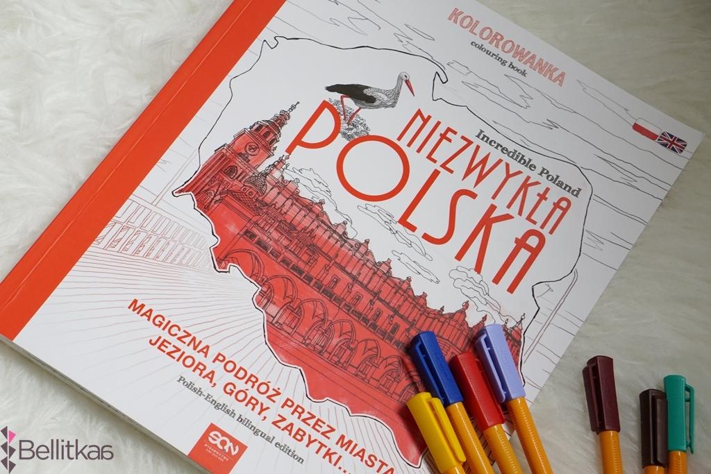 kolorowanka niezwykla polska jako piękna pamiątka