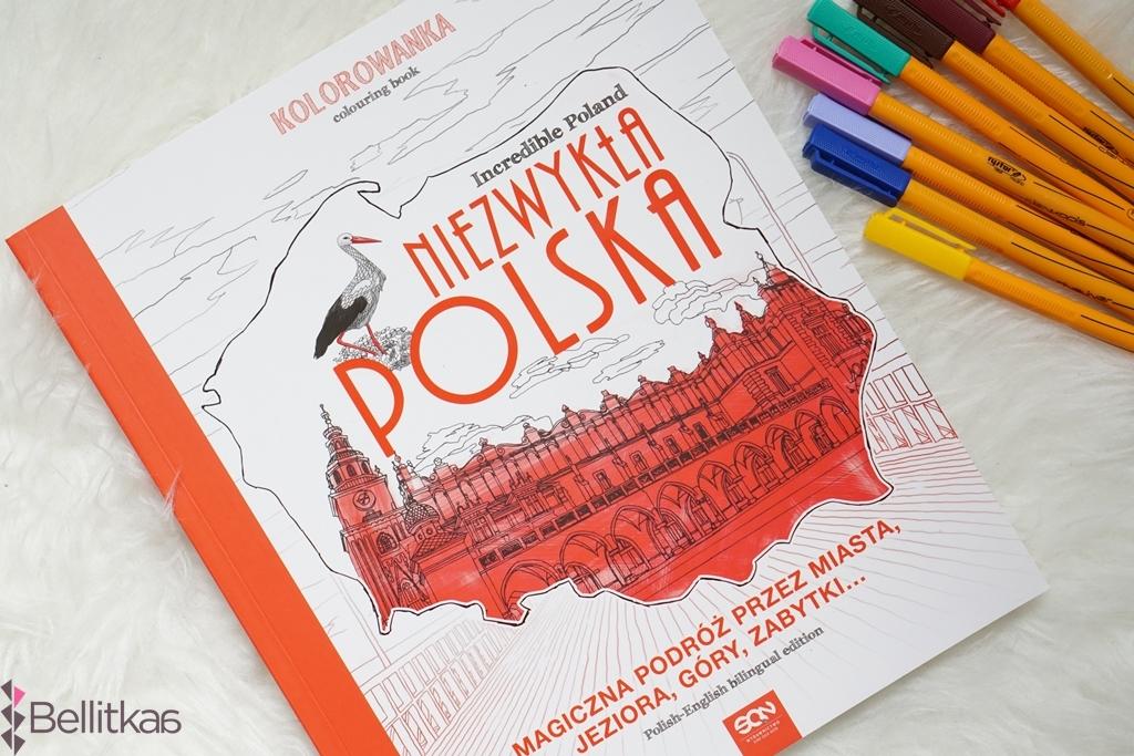 Kolorowanka Niezwykla Polska czyli idealna pamiątka z wakacji w Polsce.
